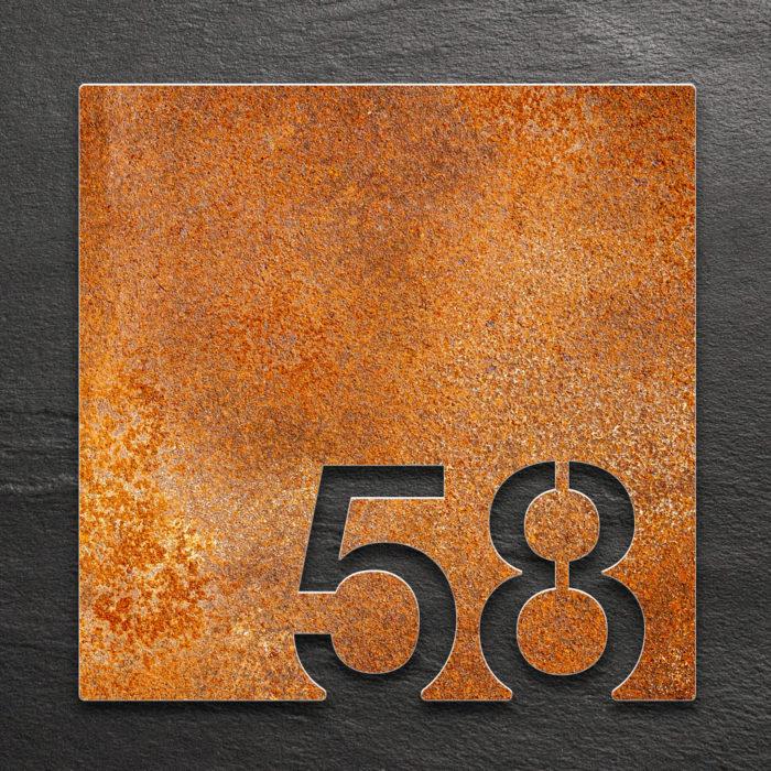 Vintage Zimmernummer 58 / Z.03.058.R 1