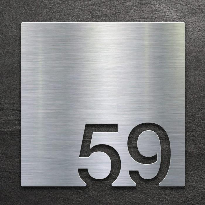 Edelstahl Zimmernummer 59 / Z.03.059.E 1