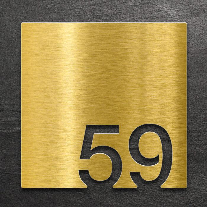 Messing Zimmernummer 59 / Z.03.059.M 1