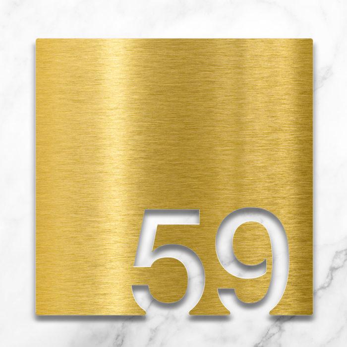 Messing Zimmernummer 59 / Z.03.059.M 2