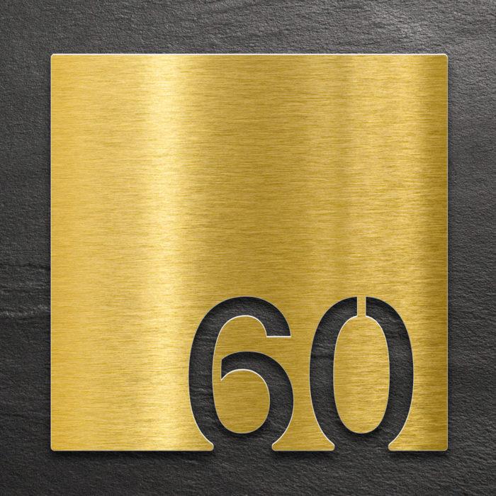 Messing Zimmernummer 60 / Z.03.060.M 1