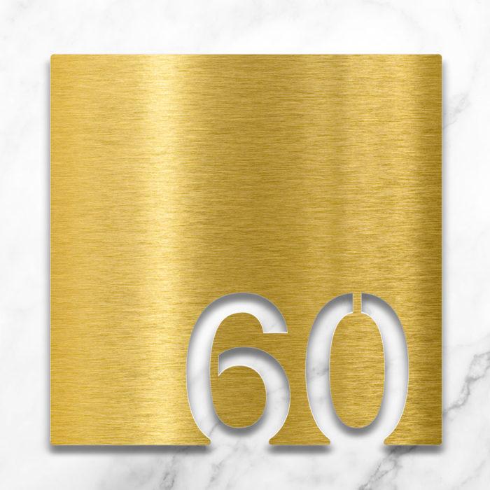 Messing Zimmernummer 60 / Z.03.060.M 2