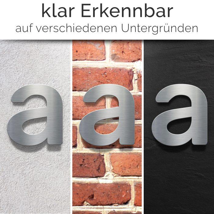 """Edelstahl Hausnummer a """"Essence"""" / N.11.E 2"""