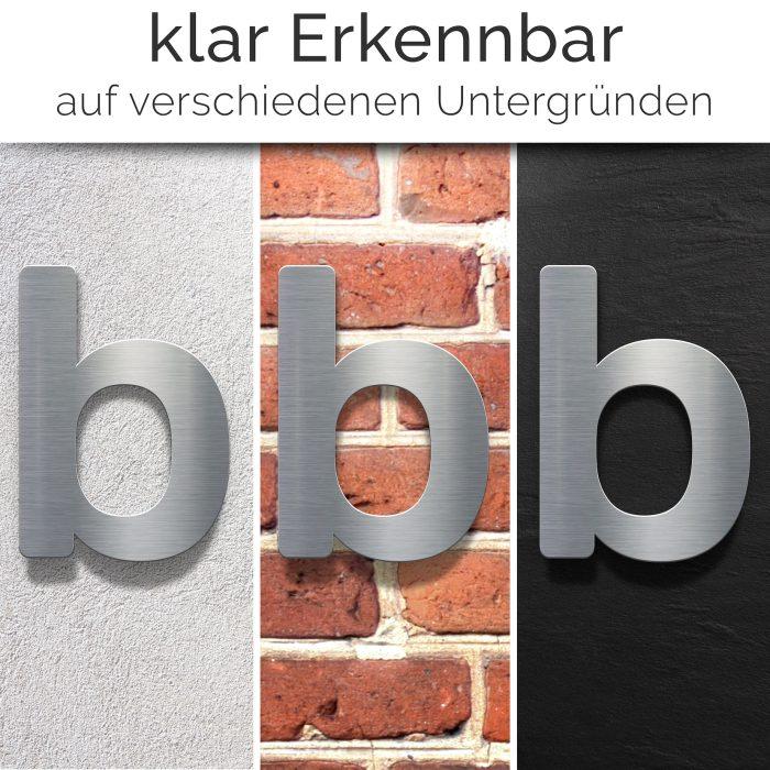 """Edelstahl Hausnummer b """"Essence"""" / N.12.E 2"""