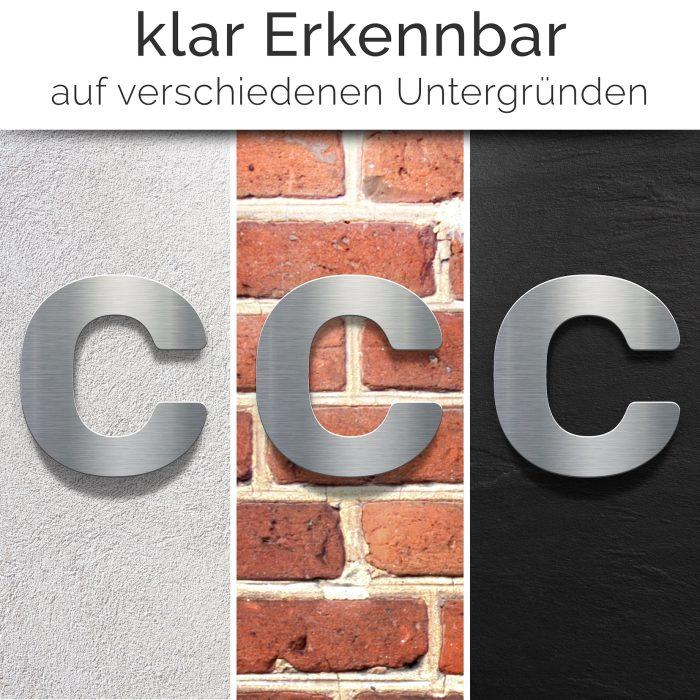 """Edelstahl Hausnummer c """"Essence"""" / N.13.E 2"""