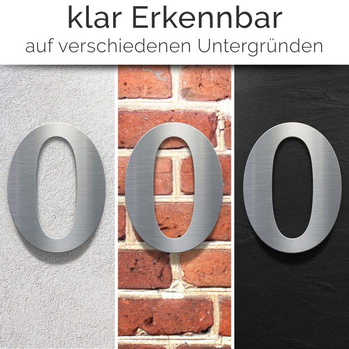 """Edelstahl Hausnummer 0 """"Classic"""" / N.30.E 2"""