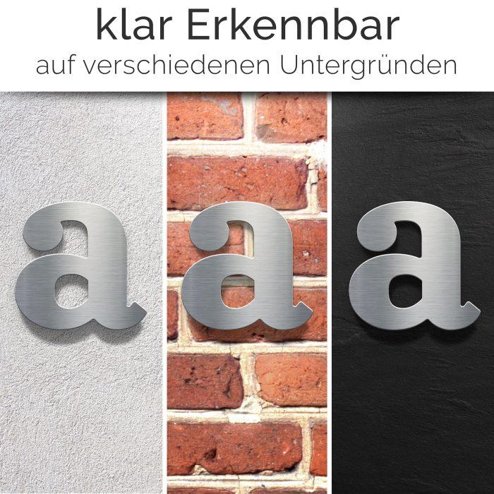 "Edelstahl Hausnummer a ""Classic"" / N.31.E 2"