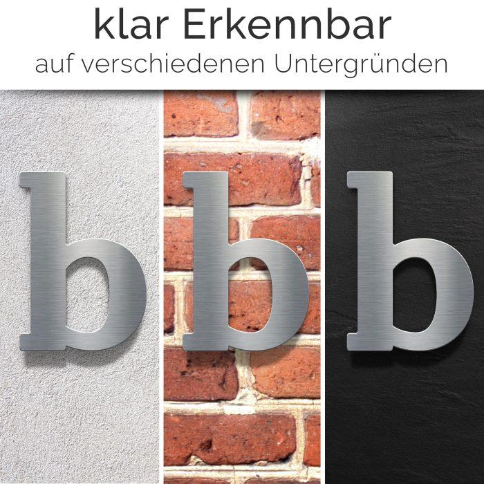 """Edelstahl Hausnummer b """"Classic"""" / N.32.E 2"""