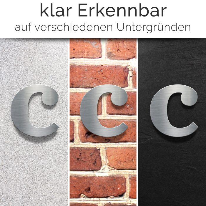 """Edelstahl Hausnummer c """"Classic"""" / N.33.E 2"""