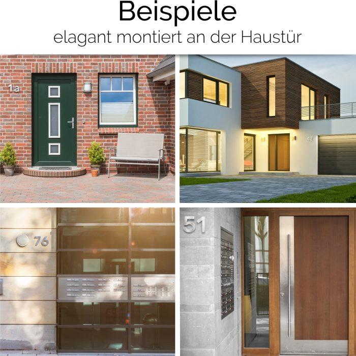 """Edelstahl Hausnummer 7 """"Essence"""" / N.07.E 5"""