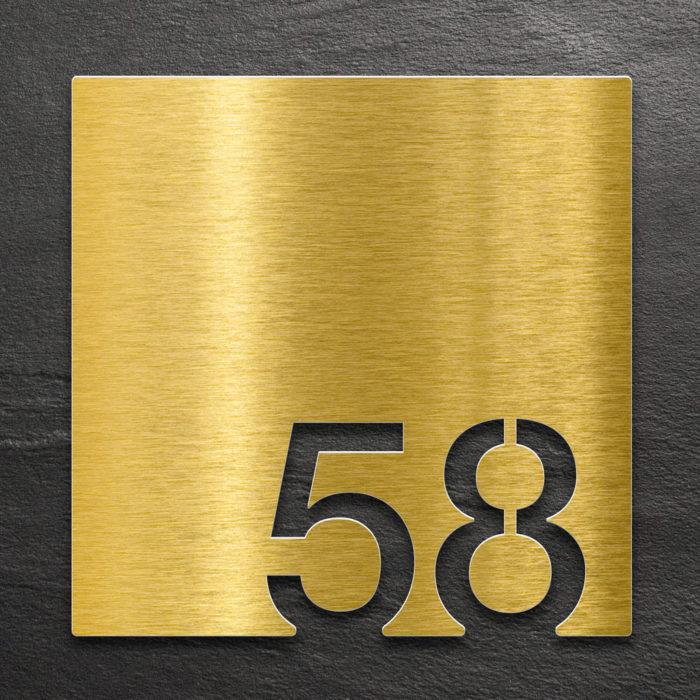 Messing Zimmernummer 58 / Z.03.058.M 1